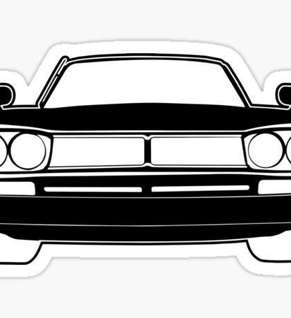 1970 Datsun GTR Skyline JDM Design   Stickers & Apparel - Black Sticker
