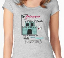Princess castle Feminism Women's Fitted Scoop T-Shirt
