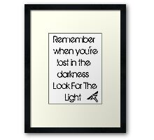 The Last Of Us: Look For The Light Framed Print