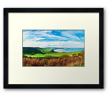 Scenic View over of Robin Hoods Bay in Ravenscar, North Yorkshire, England Framed Print