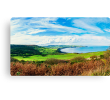 Scenic View over of Robin Hoods Bay in Ravenscar, North Yorkshire, England Canvas Print