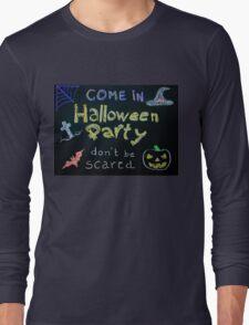 Halloween Party invitation Long Sleeve T-Shirt