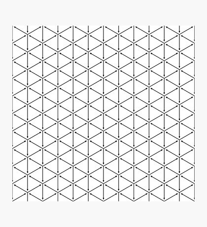 Black isometric arrows pattern Photographic Print