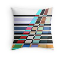 Colorful oblique lines . Abstract pattern 2 .  Throw Pillow