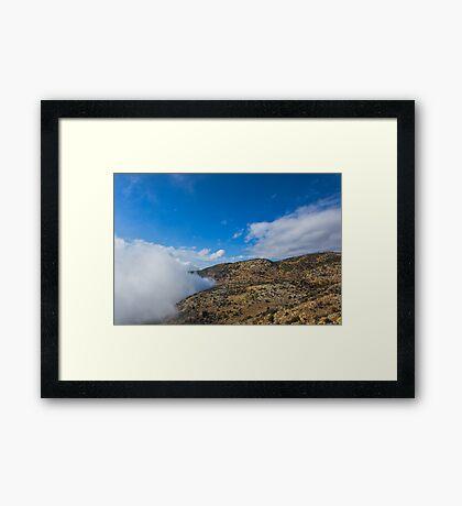 Crawling cloud. Framed Print