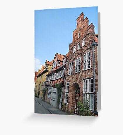 Lübeck - façade [1] Greeting Card