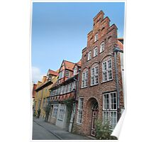 Lübeck - façade [1] Poster