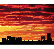 Sunset over New York City  Photographic Print