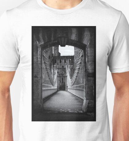 Conwy Suspension Bridge and Castle, Wales Unisex T-Shirt