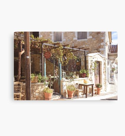 Greek Eating Place Canvas Print