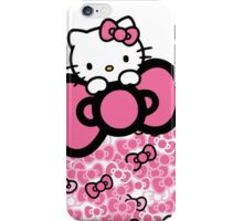 pink bow hello kitty  iPhone Case/Skin