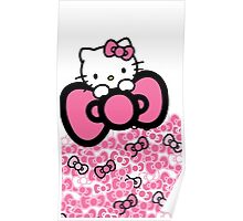 pink bow hello kitty  Poster