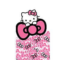 pink bow hello kitty  Photographic Print