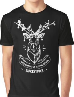 Dreaming of a whitetail Christmas - Funny Hunting Deer  Graphic T-Shirt