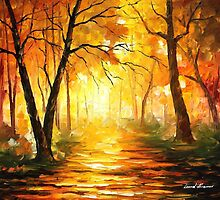 Yellow Fog 3 — Buy Now Link - http://goo.gl/XV2EDe by Leonid  Afremov
