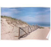 Early summer days at the beach Poster