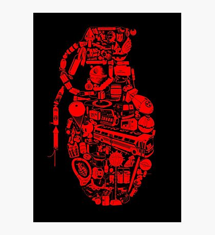 BOOM! -red- Photographic Print