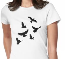 Flying birds Womens Fitted T-Shirt