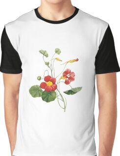 Red fower Graphic T-Shirt