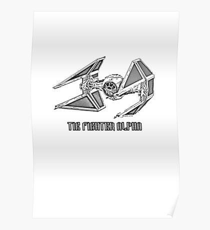 Tie Fighter Alpha Poster
