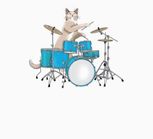 Cat Playing Drums - Pink Mens V-Neck T-Shirt