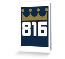 KC Royals: 816 Greeting Card