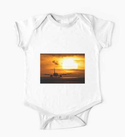 Plane with sun One Piece - Short Sleeve