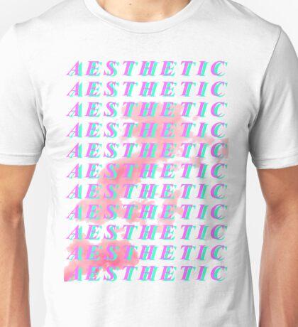 Repeated A E S T H E T I C with S M O K E Unisex T-Shirt