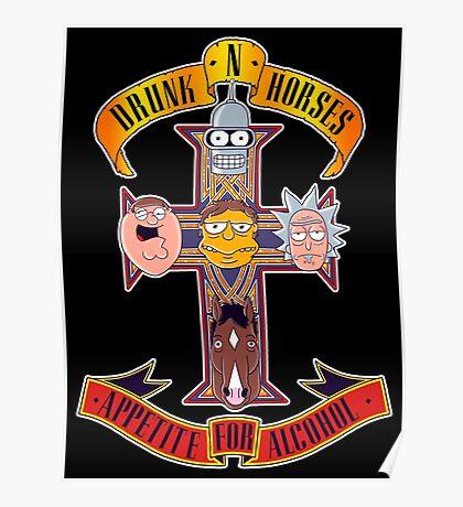 Drunk N Horses Poster