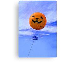 Jack O' Lantern Balloon Canvas Print