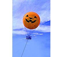 Jack O' Lantern Balloon Photographic Print