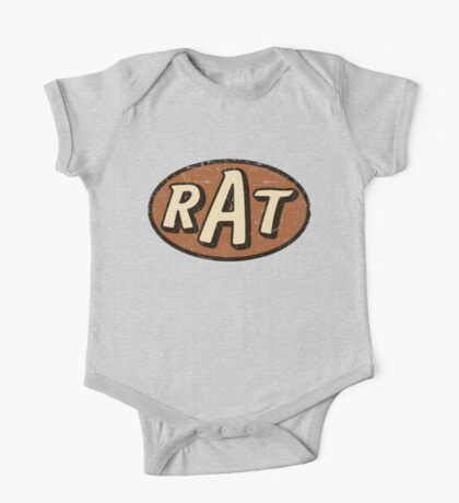 RAT - weathered/distressed One Piece - Short Sleeve