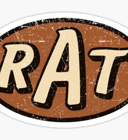RAT - weathered/distressed Sticker