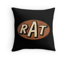 RAT - weathered/distressed Throw Pillow