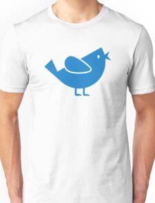 Blue comic bird Unisex T-Shirt