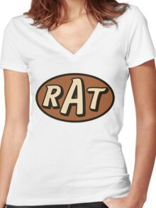 RAT - solid Women's Fitted V-Neck T-Shirt