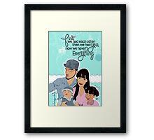 Nano Special Family Portrait  Framed Print