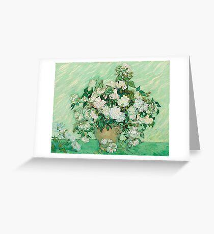 Vincent Van Gogh - Roses 1890 Greeting Card