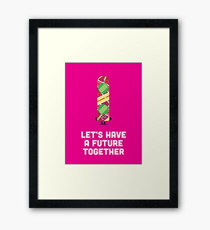 Character Building - Valentines - Hoverboard - Future Framed Print