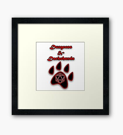 D&D Dungeons and Dachshunds Framed Print