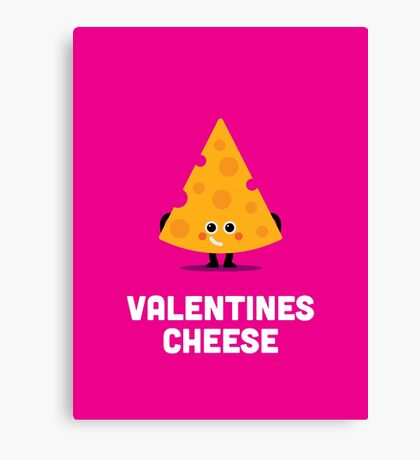Character Building - Valentines - Cheese Canvas Print