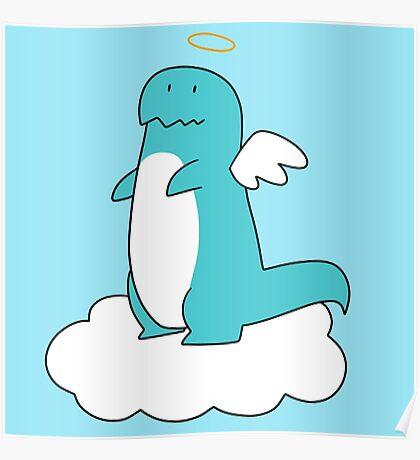 Angel T-rex Poster
