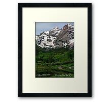 The Maroon Bells Lake with Ducks  Framed Print