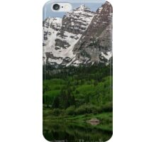 The Maroon Bells Lake with Ducks  iPhone Case/Skin