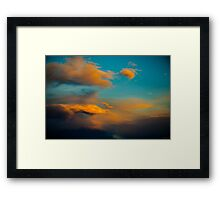 Amazing Sunset Cloud Scene in the Sky  Framed Print
