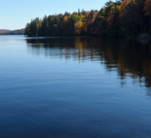A Blue Autumn Afternoon - Algonquin Lake Serenity Sticker