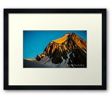 Snowmass Area and the Amazing HagerMan Peak  Framed Print