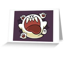 Vintage Super Mario World - Boo Ghost Greeting Card