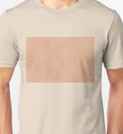 Beige wrinkled leather cloth texture Unisex T-Shirt