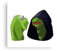 Evil Kermit / Kermit To Kermit Meme Canvas Print